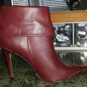 Shoes - Burgundy Ankle Boot